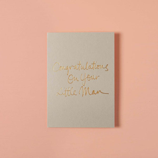 Baby Gift Card - Congratulations On Your Little Man