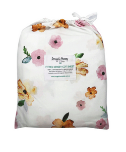 Snuggle Hunny Kids Fitted Cot Sheet Poppy