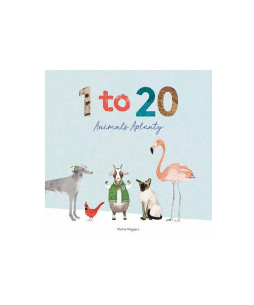 1 to 20 Animals Aplenty Book by Katie Viggers