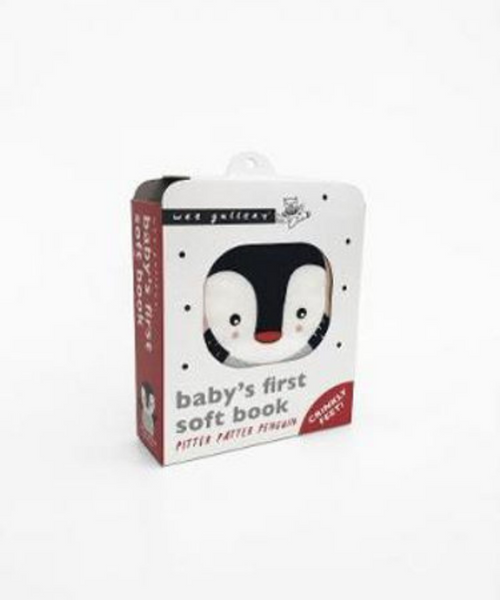 Pitter Patter Penguin Cloth Book by Wee Gallery