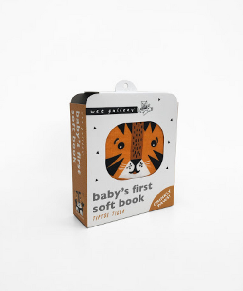 Tip Toe Tiger Cloth Book by Wee Gallery