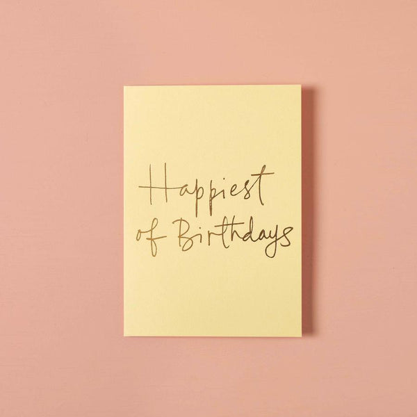 Birthday Gift Card - Happiest Of Birthdays