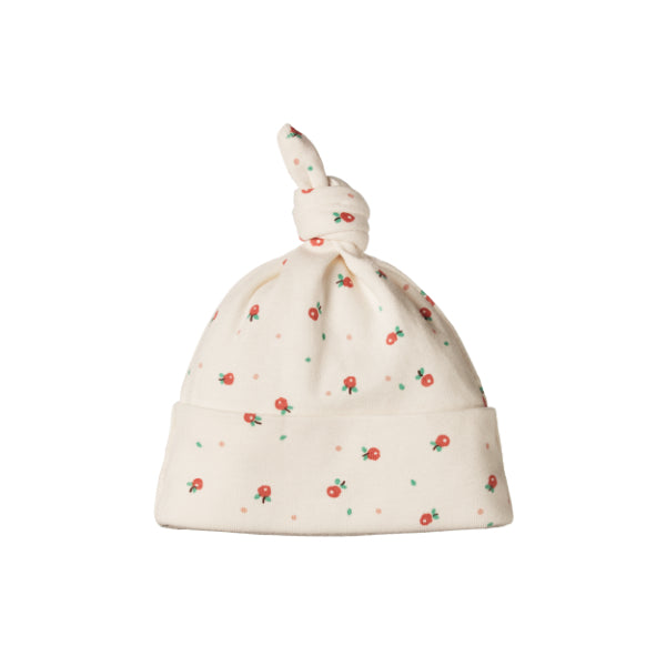 Nature Baby Cotton Knotted Beanie Posey Blossom Natural
