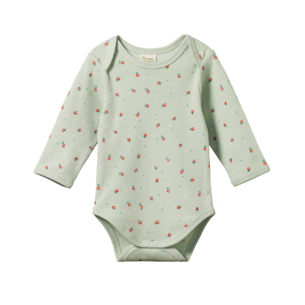 Nature Baby Long Sleeve Bodysuit Posey Blossom