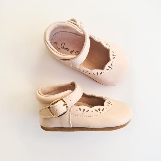 Indi and Co Isla Leather Soft Sole Mary Jane Shoes Blossom