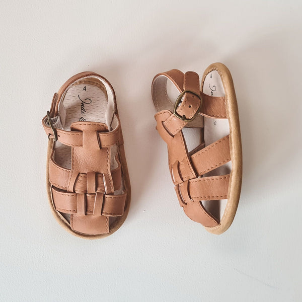 Indi and Co Benji Leather Soft Sole Sandals Almond