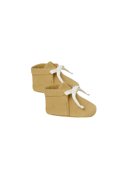 Quincy Mae Organic Baby Booties Gold