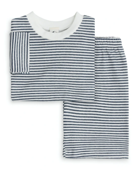 Sleepy Doe Kids Tee and Short PJ Set Pultney Stripe