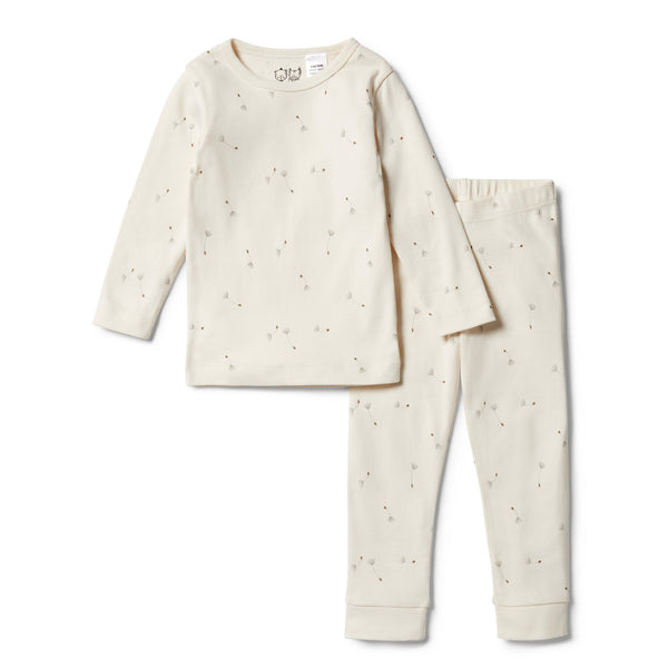 Wilson and Frenchy Organic Long Sleeve Pyjamas Floating Dandelions