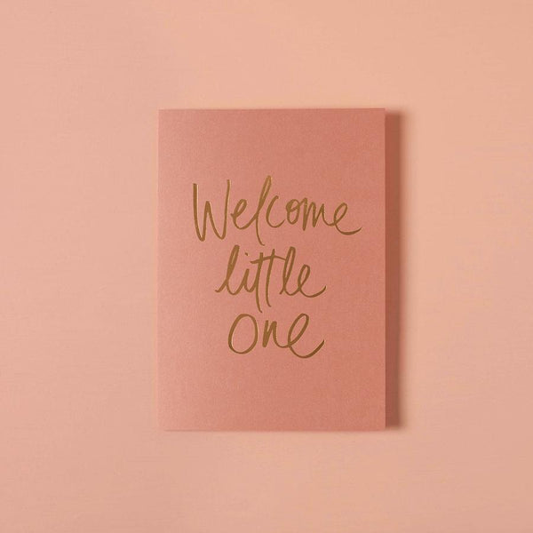 Baby Gift Card - Welcome Little One Terra Rose