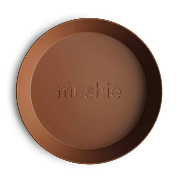 Mushie Round Dinner Plate Set Caramel