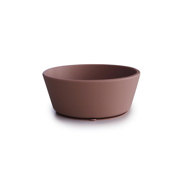 Mushie Suction Silicone Bowl Cloudy Mauve