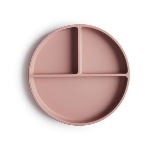 Mushie Suction Silicone Plate Blush