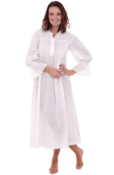 Women's Romeo and Juliet Cotton Nightgown, Bell Sleeve Victorian Sleepwear