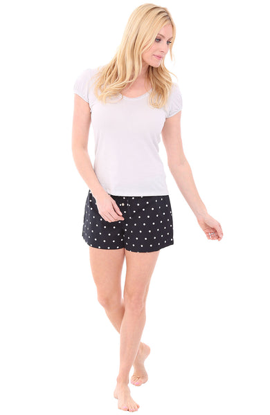 Black and White Polka Dot with Lunar Rock Top