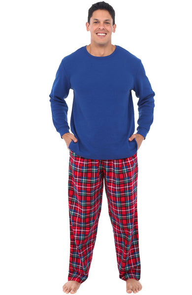 Blue Red and Green Christmas Plaid