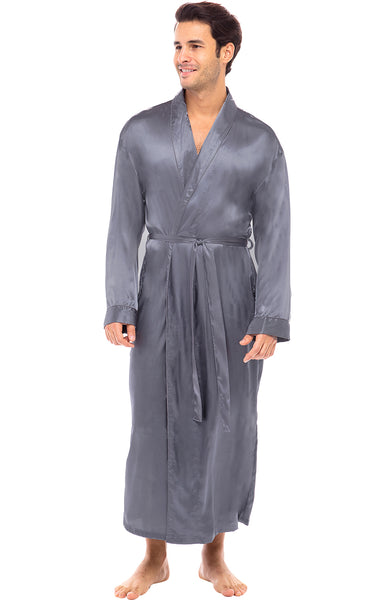 Mens Satin Lounge Robe