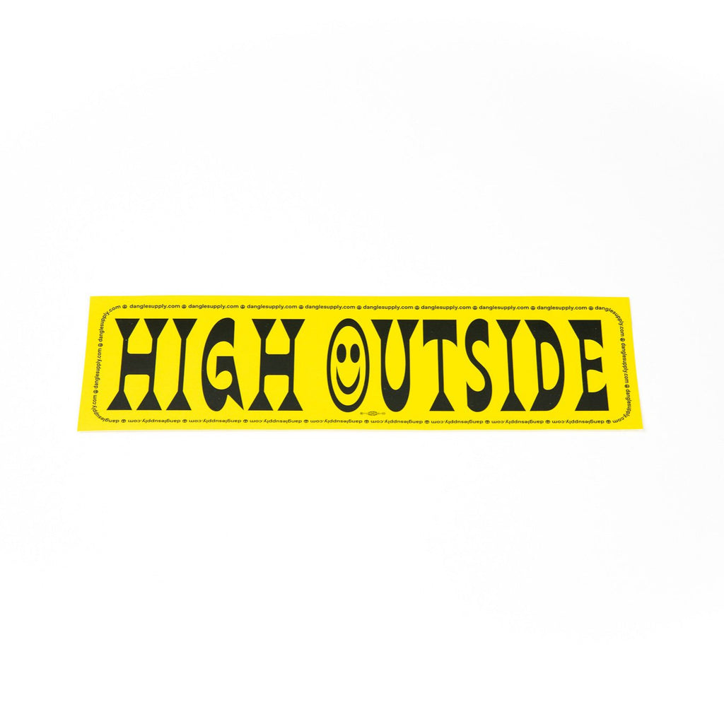 High Outside Bumper Sticker