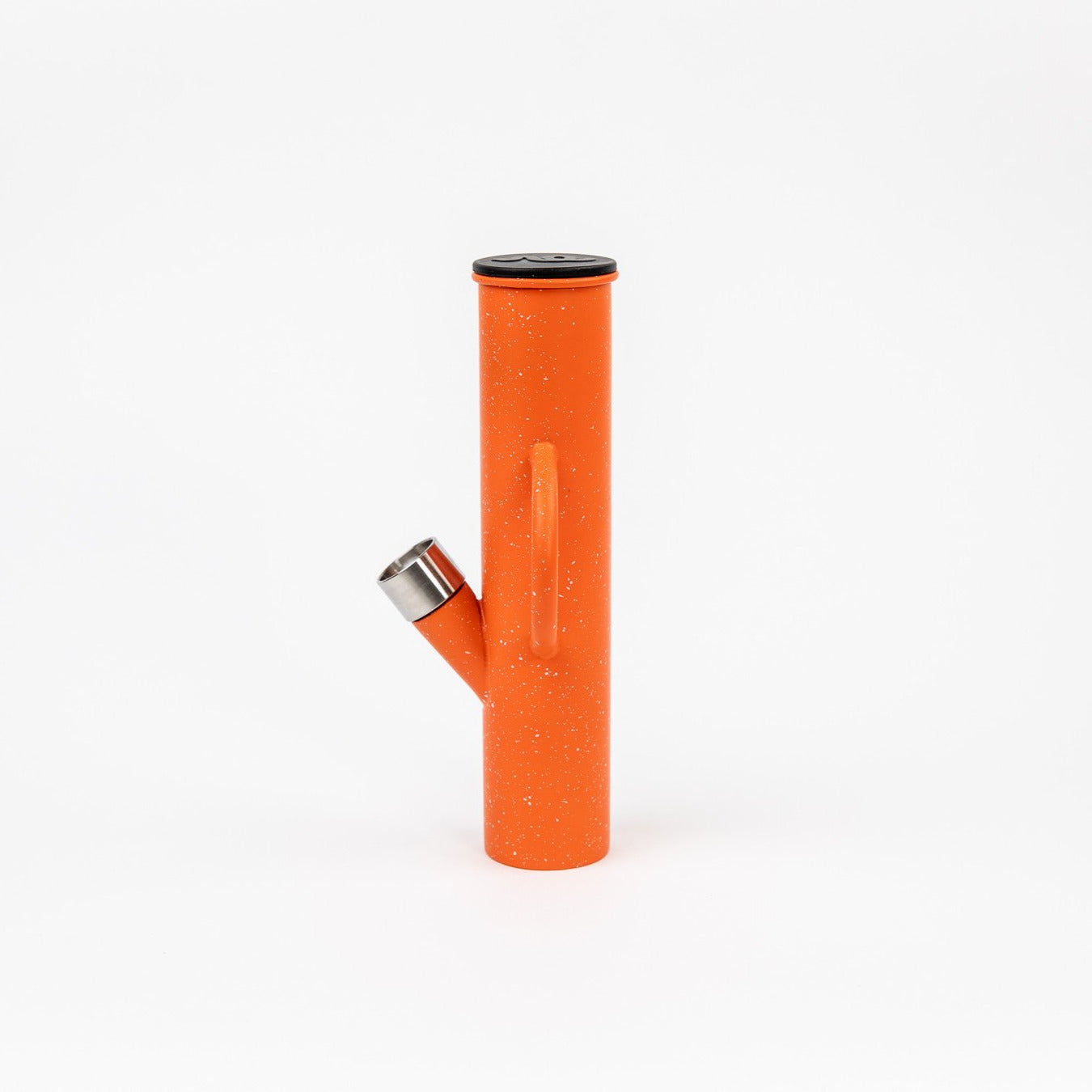 Poler Orange Speckle DangleBong Titanium Water Pipe