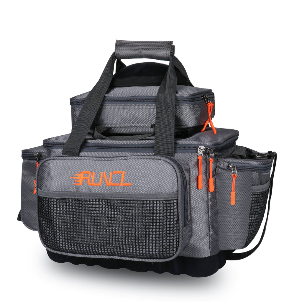 Fishing Tackle Storage Bag Tournament Proven Angling-Specific Design RUNCL Fishing Tackle Box Fishing Tackle Backpack Waterproof Storage Box Ergonomic Design- Storage Organizer Fly Fishing Bag