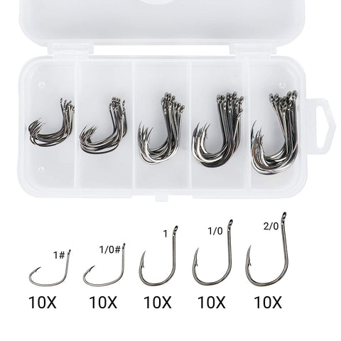 RUNCL 50pcs drop shot fishing hooks