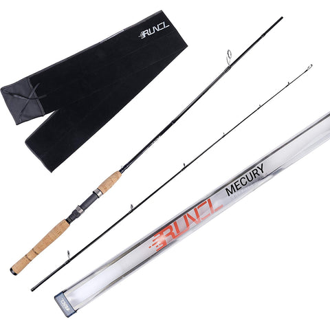 RUNCL  2 Piece Spinning Rods (MECURY)