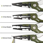 RUNCL Fishing Pliers X3 (green & silver)
