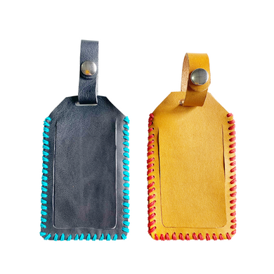 Stitched Leather Luggage Tag