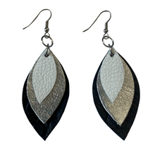 Load image into Gallery viewer, Mini 3 Leaf Earrings
