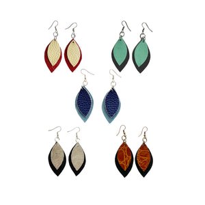 Kundwa Mini 2-Leaf Earrings
