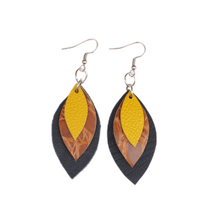 Fall '20 Mini 3 Leaf Earrings
