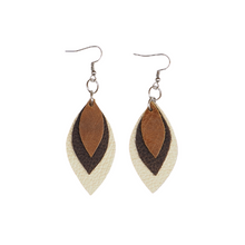 Load image into Gallery viewer, Fall '20 Mini 3 Leaf Earrings