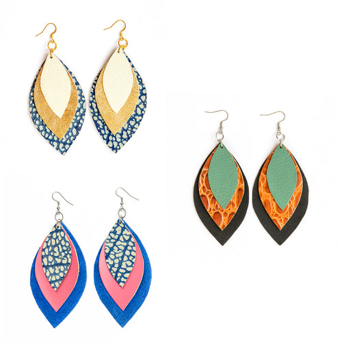 Spring Signature 3 Leaf Earrings