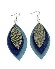 Load image into Gallery viewer, Kundwa Large 3-Leaf Earrings