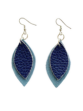 Load image into Gallery viewer, Kundwa Mini 2-Leaf Earrings