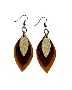 Kundwa Mini 3-Leaf Earrings