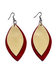 Load image into Gallery viewer, Kundwa 2-Leaf Large Earrings