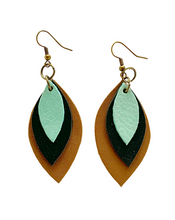 Load image into Gallery viewer, Kundwa Mini 3-Leaf Earrings
