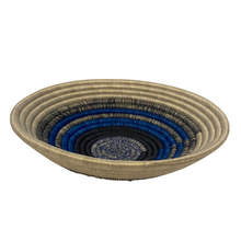 Load image into Gallery viewer, Large Blue Woven Basket