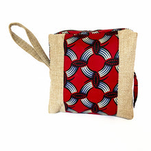 Load image into Gallery viewer, Red Kitenge Cosmetic Bag