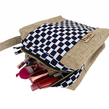 Load image into Gallery viewer, Blue Kitenge Cosmetic Bag