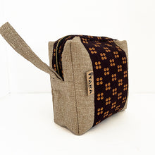 Load image into Gallery viewer, Brown Kitenge Cosmetic Bag