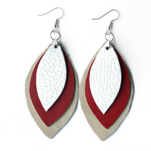 Load image into Gallery viewer, Game Day Three Leaf Earrings