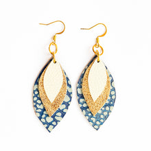 Load image into Gallery viewer, Spring Mini 3 Leaf Earrings
