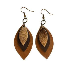 Mini 3 Leaf Earrings