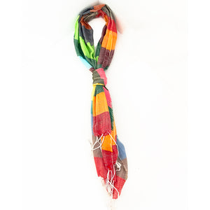 Multicolor Peace House Scarf