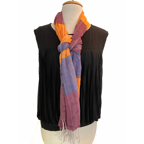 Blue Wine & Orange Peace House Scarf