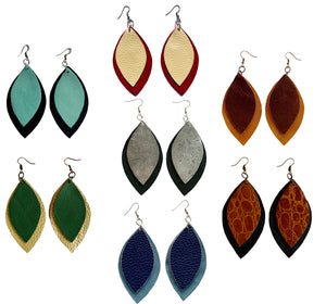 Kundwa 2-Leaf Large Earrings