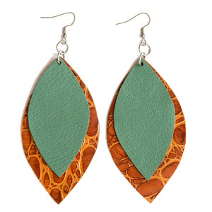 Spring Signature 2 Leaf Earrings