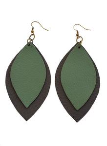 Signature 2 Leaf Earrings